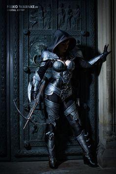 Demon Hunter @ Diablo III (Sexy Cosplay von Spiral Cat & # s) - 02 - Fantasy Women, Fantasy Girl, Cosplay Outfits, Cosplay Costumes, Cosplay Armor, Edgy Outfits, Larp, Fantasy Characters, Female Characters