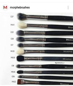 Cat: What are your favourite eye brushes from Morphe Brushes? - Cat: What are your favourite eye brushes from Morphe Brushes? Make Up Kits, Professionelles Make Up, Kiss Makeup, Cute Makeup, Makeup Brush Set, Prom Makeup, Makeup Dupes, Makeup Geek, Makeup Morphe