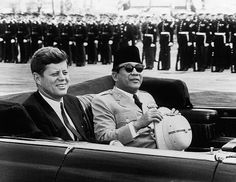 Indonesia 1st President, Ir. Soekarno and President John F. Kennedy. They lived in black and grey world