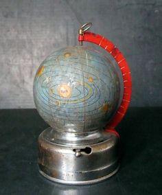 Miniature glass celestial globe 1950s