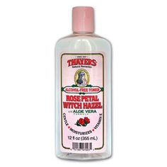 Perfect for preventing wrinkles & sealing moisture in your skin! Thayers Rose Petal Alcohol-Free Witch Hazel with Aloe Vera Formula Toner will make your skin bloom. Rose Thayer's remarkably soothing Toner is made with rose-petal water, Vitamin E and our proprietary Witch Hazel extract.   Toner with Aloe Vera Formula with Vitamin E