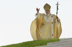 Pope Benedict XVI celebrates the holy mass on the Islinger Feld on Sept. 12, 2006