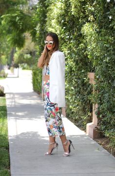 Tropical crop top and culottes with @wayfclothing