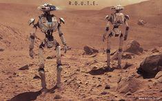 R.O.U.T.E Exploration Robot, wesley griffith on ArtStation at https://www.artstation.com/artwork/r-o-u-t-e-exploration-robot