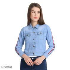 Jackets Aagyeyi Fabulous Women Jacket Fabric: Denim  Sleeve Length: Long Sleeves  Pattern: Solid  Multipack: 1  Sizes:  S (Bust Size: 36 in Length Size: 20 in)  M (Bust Size: 38 in Length Size: 20 in)  L(Bust Size: 40 in Length Size: 20 in)  XL (Bust Size: 42 in Length Size: 20 in) Country of Origin: India Sizes Available: S, M, L, XL   Catalog Rating: ★4.1 (14180)  Catalog Name: Aagyeyi Fabulous Women Jacket CatalogID_1127472 C79-SC1023 Code: 013-7065964-