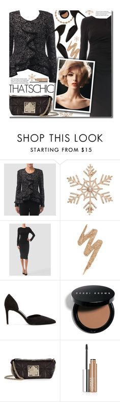 Holiday Style: Classy and Chic by beebeely-look on Polyvore featuring Joseph Ribkoff, Yves Saint Laurent, Sonia Rykiel, John Lewis, Urban Decay, Bobbi Brown Cosmetics, Clinique, blackdress, blackoutfit and holidaystyle