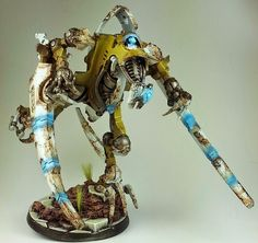 Dark Future Games: It Came From the Blogosphere: Rumplemaster's Yellow Necron Conversions