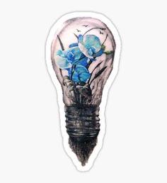 Shawn Mendes Lightbulb Tattoo Sticker
