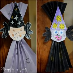 U nás na kopečku: čarodějnice Diy And Crafts, Arts And Crafts, Grande Section, Step Kids, Halloween, Origami, Preschool, Christmas Ornaments, Holiday Decor