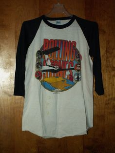 ROLLING STONES TEE SHIRT 1981 AIRPLANE 6 PICTURES 81 TOUR CREW TRUE VINTAGE