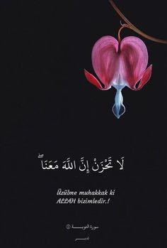 Üzülme muhakkak ki ALLAH bizimledir.! Tevbe suresi Allah, Quotes, Elegance Style, Turkey, Truths, Quotations, Turkey Country, Quote, Shut Up Quotes