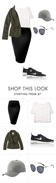 """Untitled #83"" by mayventu1999 on Polyvore featuring J.TOMSON, MANGO, Hollister Co., NIKE and Charlotte Russe"