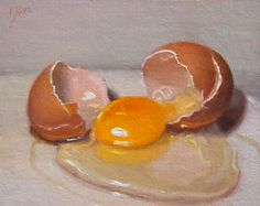 Cracked-Egg-oil-painting-by-Abbey-Ryan