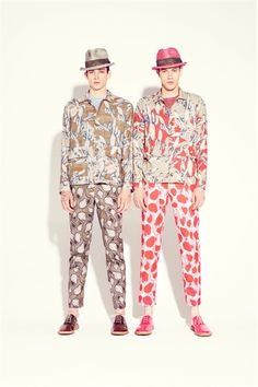Esas raras estampas nuevas ...  Marc Jacobs Men - Men Fashion Spring Summer 2013 - Shows - Vogue.it