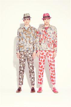 Esas raras estampas nuevas ...  Marc Jacobs Men - Men Fashion Spring Summer 2013 - Shows - Vogue.it
