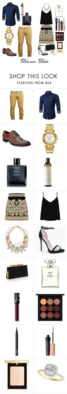"""""""Untitled #74"""" by lightbody-joanna on Polyvore featuring Kenneth Cole Reaction, Versace, Chanel, Le Labo, For Love & Lemons, Raey, Lulu Frost, Boohoo, Jimmy Choo and NARS Cosmetics"""