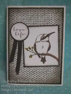 Stampin' Up! A Happy Thing, Adventure Bound & blendabilities.