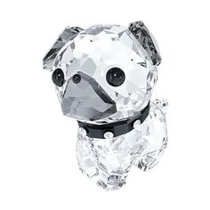 Swarovski Puppy - Roxy The Pug (€71) ❤ liked on Polyvore featuring home, home decor, crystal home decor, pug home decor, black home decor and dog home decor