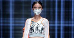 China's pollution crisis has gotten so bad that even fashion designers are coming up with stylish solutions for safe breathing.
