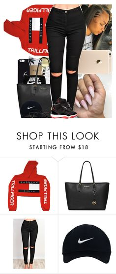 """""""Untitled #819"""" by msixo ❤ liked on Polyvore featuring MICHAEL Michael Kors, NIKE and ZeroUV"""