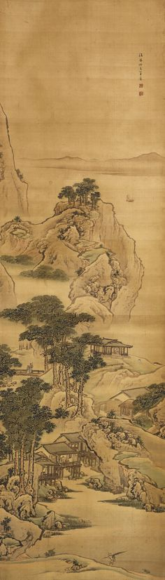 Yuan Yao (Active Mid-18th Century) LANDSCAPES (2) with two seals of the artist, yuan yao, zhao dao  袁耀 (18世紀) 夏木垂蔭 款識: 二、騼山避暑。鈐印:袁耀、昭道