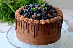 Czekoladowy tort z jeżynami / Chocolate blackberry cake