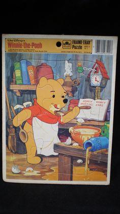 Vintage WALT DISNEY'S WinniethePooh Frame by RememberWhenRelics, $7.95 Frame Tray, Pooh Bear, Disney Winnie The Pooh, Age 3, Ol, Walt Disney, Growing Up, Family Guy, Foods