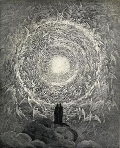 White Rose by Gustave Dore (Illustration for Dante's Paradiso) #dante #divinecomedy #dore