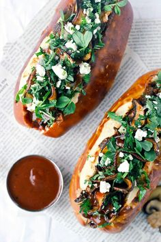 Chipotle Pulled Portobello Sandwiches with Feta and Cilantro... because BBQ sandwiches should be for everybody! #vegetarian