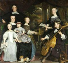 1671 Abraham Lambertsz. van den Tempel (Dutch painter, c 1622-1672)  David Leeuw with his family