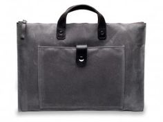 Andy Charcoal Wax Laptop Brief
