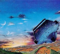 Reposting @sci_fi_vintage: Tim White 1975 #sci_fi #scifi #vintage #art #80s #space #spaceship