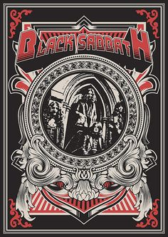 Black Sabbath: What an amazing band from England, with the famous Prince of Darkness, Ozzy Ozbourne, as its lead singer. Tour Posters, Band Posters, Black Sabbath, Hard Rock, Rock And Roll, Musica Metal, Concert Rock, Rock Vintage, Fantasy Anime