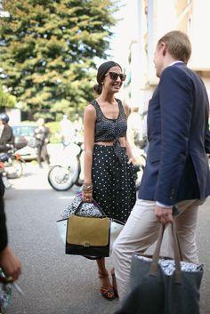 love it!  They Are Wearing: Milan Fashion Week - WWD.com