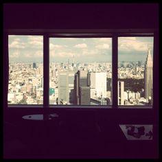 The view from Park Hyatt Tokyo.