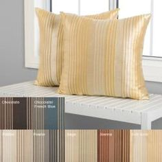 @Overstock - These Jaipur Stripe pillows are the perfect accent to any room in your home. These pillows feature a modern stripe jacquard design.http://www.overstock.com/Home-Garden/Jaipur-Stripe-Decorative-Pillows-Set-of-2/5288785/product.html?CID=214117 $38.49