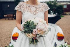 Peony Peonies Succulent Bouquet Flowers Bride Bridal Teal Gold Barn Wedding http://www.mr-and-mrs-wedding-photography.co.uk/