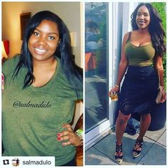 IG Inspiration from @salmadulo  transformationtuesday I think the picture on the left was taken in 2011. For years I did crash diets  Black women, african american weight loss transformation