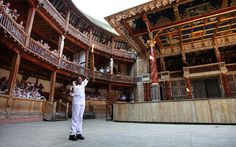 """""""Oh for a muse of fire"""" ... the Olympic Flame inside the Globe Theatre ... tomorrow is the big day!!!  Can't wait!!!"""