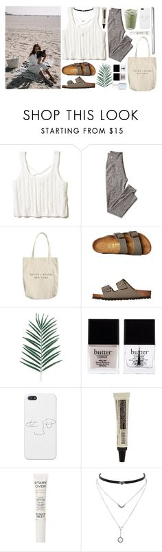 """I could, but"" by anna-madalena ❤ liked on Polyvore featuring Hollister Co., Mark & Graham, Birkenstock, Butter London, Aesop, Sunday Riley, Jessica Simpson and Essie"