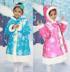 Snow Queen Sherpa Winter Jacket Girls Hooded Coat warm kid Outerwear Parka 4-8T #Unbranded #AnoraksParkas #CasualParty