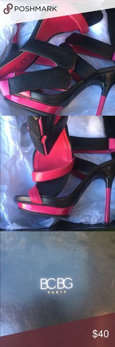 BCBG Paris Stilettos 👠 This pair of BCBG Paris stiletto sandals are a great addition to any shoe lovers collection. These can be dressed up or down and are very comfortable. BCBG Shoes Sandals