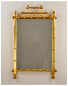 Carvers' Guild Horner Bamboo Mirror in Gold  21 wide  X  34 H
