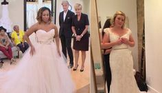 """Right: writer Stephenie Morris has a stealthy photo taken of her at a Toronto bridal boutique, where you're not really supposed to photograph the process.  The wedding fantasy experience plays out in full force on TLC's """"Say Yes to the Dress,"""" which oversees a bride during one of the most important aspects"""