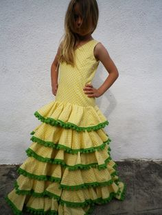 Girl's flamenco dress from Spain - from MariaBaba on Etsy