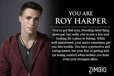 I took Zimbio's 'Arrow' quiz and I'm Roy Harper! xD I got Roy. It kinda fits though.<---I didn't actually get him, but I like the description. Arrow Cw, Arrow Oliver, Team Arrow, Arrow Roy Harper, Roy And Thea, Dc Comics, Thea Queen, Dc World, Colton Haynes