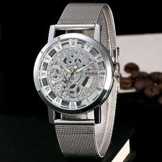 >> Click to Buy << New skeleton quartz watch women Delicate transparent hollow watch stainless steel wristwatch For men women relogio feminino Gift #Affiliate