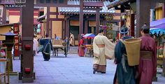 An ancient Chinese backpacker on the street inside the city gate (from Chinese tv drama NIrvana in Fire) https://plus.google.com/+Simplifyyourlifepluschina/posts/LfoDVpmSDBA