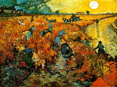 "I have to write a report on one piece of artwork by an artist we discussed during the semester. I think I'm going to write about this piece. -- ""The Red Vineyard at Arles"" by Vincent Van Gogh, was the only painting sold while he was alive."