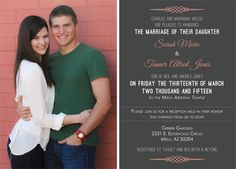 Sarah Welch Back Simple Wedding Invitations, Announcement, Marriage, Valentines Day Weddings, Mariage, Weddings, Casamento